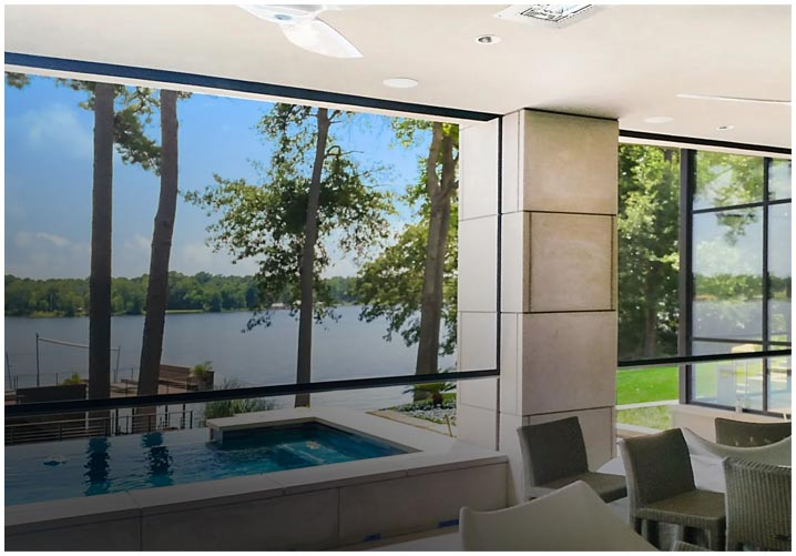 EX Design Group motorized roll-up shades in Dallas